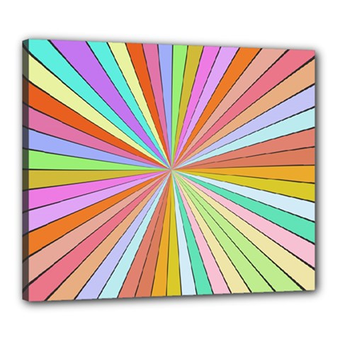 Colorful Beams Canvas 24  X 20  (stretched) by LalyLauraFLM