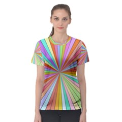 Colorful Beams Women s Sport Mesh Tee