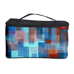 Blue Orange Watercolors Cosmetic Storage Case