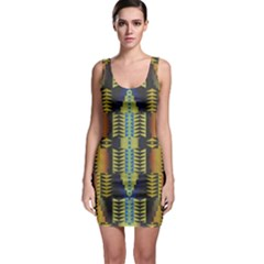 Triangles And Other Shapes Pattern Bodycon Dress