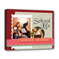 back to school - Deluxe Canvas 20  x 16  (Stretched)