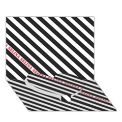 Selina Zebra Heart Bottom 3d Greeting Card (7x5)  by Contest580383