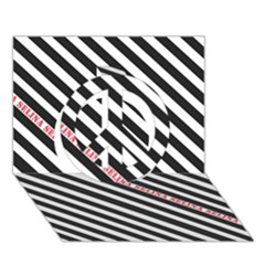 Selina Zebra Peace Sign 3d Greeting Card (7x5)