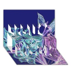 Purple, Pink Aqua Flower Style You Rock 3d Greeting Card (7x5)  by Contest1918526