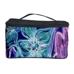 Purple, Pink Aqua Flower style Cosmetic Storage Cases by Contest1918526