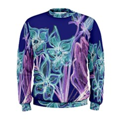 Purple, Pink Aqua Flower Style Men s Sweatshirts by Contest1918526