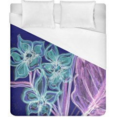 Purple, Pink Aqua Flower Style Duvet Cover Single Side (double Size)