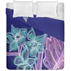 Purple, Pink Aqua Flower Style Duvet Cover (double Size) by Contest1918526