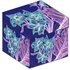 Purple, Pink Aqua Flower Style Storage Stool 12