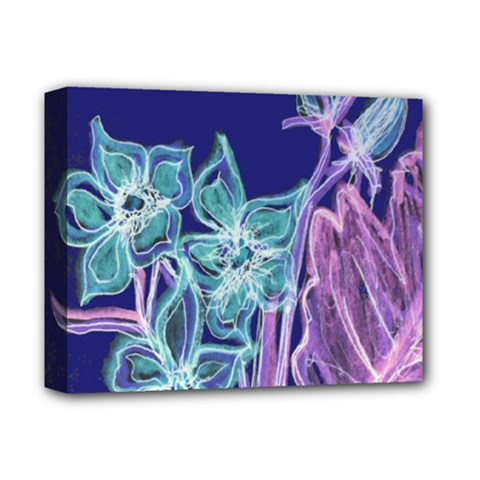 Purple, Pink Aqua Flower Style Deluxe Canvas 14  X 11  by Contest1918526