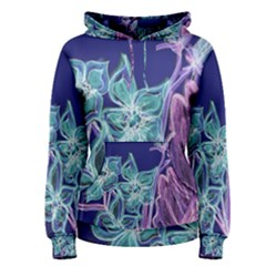 Purple, Pink Aqua Flower Style Women s Pullover Hoodies by Contest1918526