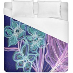 Purple, Pink Aqua Flower Style Duvet Cover Single Side (kingsize) by Contest1918526