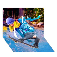 Skateboarding On Water Apple 3d Greeting Card (7x5)  by icarusismartdesigns