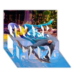 Skateboarding On Water Work Hard 3d Greeting Card (7x5)  by icarusismartdesigns