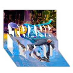 Skateboarding On Water Thank You 3d Greeting Card (7x5)