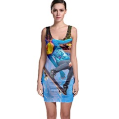 Skateboarding On Water Bodycon Dresses by icarusismartdesigns