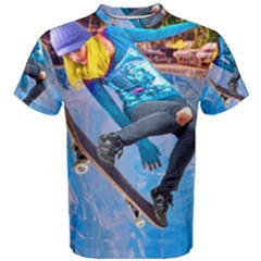 Skateboarding On Water Men s Cotton Tees by icarusismartdesigns