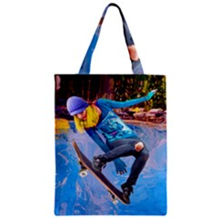 Skateboarding On Water Zipper Classic Tote Bags