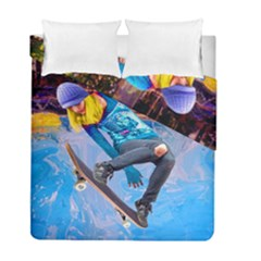 Skateboarding on Water Duvet Cover (Twin Size) by icarusismartdesigns