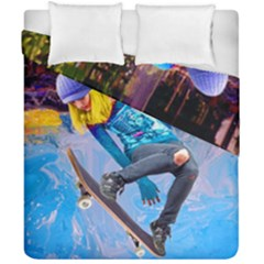 Skateboarding On Water Duvet Cover (double Size) by icarusismartdesigns