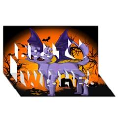 Seruki Vampire Kitty Cat Best Wish 3d Greeting Card (8x4)