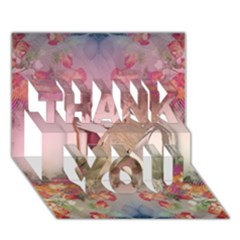 Cell Phone   Nature Forces Thank You 3d Greeting Card (7x5)