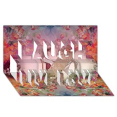 Cell Phone   Nature Forces Laugh Live Love 3d Greeting Card (8x4)