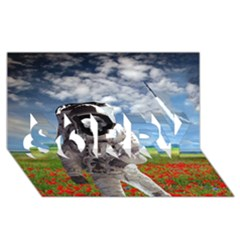 Exodus Sorry 3d Greeting Card (8x4)  by icarusismartdesigns