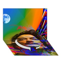 Dream Of Salvador Dali Circle Bottom 3d Greeting Card (7x5)  by icarusismartdesigns