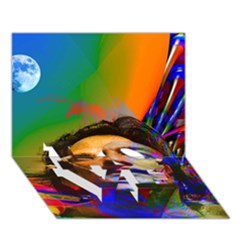 Dream Of Salvador Dali Love Bottom 3d Greeting Card (7x5)  by icarusismartdesigns