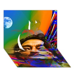 Dream Of Salvador Dali Apple 3d Greeting Card (7x5)