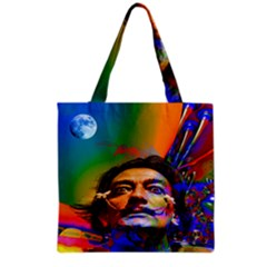 Dream Of Salvador Dali Grocery Tote Bags by icarusismartdesigns