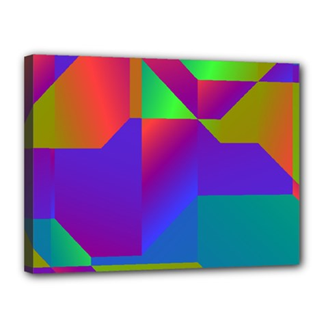 Colorful Gradient Shapes Canvas 16  X 12  (stretched) by LalyLauraFLM