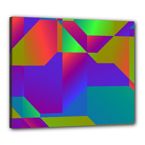 Colorful Gradient Shapes Canvas 24  X 20  (stretched) by LalyLauraFLM