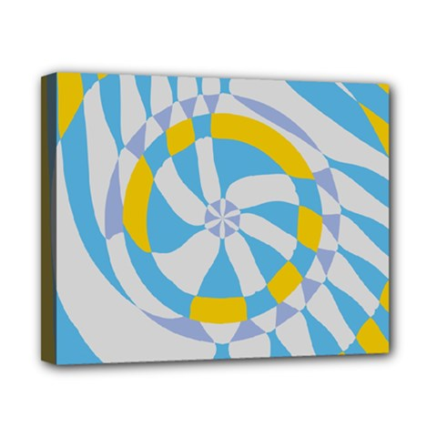 Abstract Flower In Concentric Circles Canvas 10  X 8  (stretched) by LalyLauraFLM
