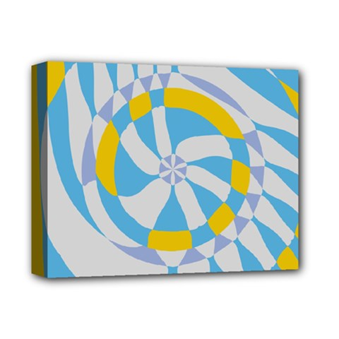 Abstract Flower In Concentric Circles Deluxe Canvas 14  X 11  (stretched) by LalyLauraFLM