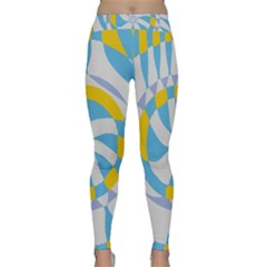 Abstract Flower In Concentric Circles Yoga Leggings by LalyLauraFLM