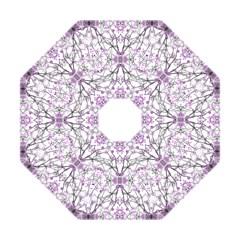 Geometric Pattern Nature Print  Hook Handle Umbrellas (small)