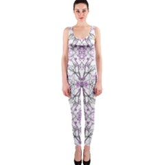 Geometric Pattern Nature Print Onepiece Catsuits