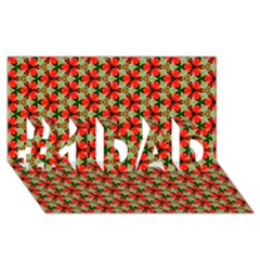 Lovely Trendy Pattern Background Pattern #1 Dad 3d Greeting Card (8x4)  by creativemom