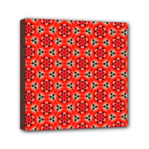 Lovely Orange Trendy Pattern  Mini Canvas 6  X 6  by creativemom