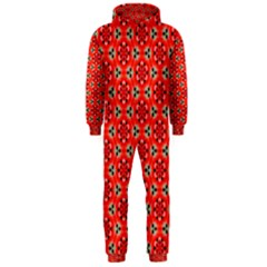 Lovely Orange Trendy Pattern  Hooded Jumpsuit (men)