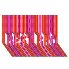 Orange Tribal Aztec Pattern Best Bro 3d Greeting Card (8x4)  by creativemom