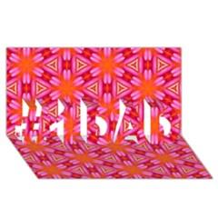 Cute Pretty Elegant Pattern #1 Dad 3d Greeting Card (8x4)  by creativemom