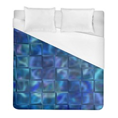 Blue Squares Tiles Duvet Cover Single Side (twin Size) by KirstenStar