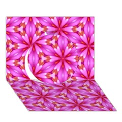 Cute Pretty Elegant Pattern Circle 3d Greeting Card (7x5)  by creativemom