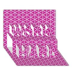 Cute Pretty Elegant Pattern Work Hard 3d Greeting Card (7x5)