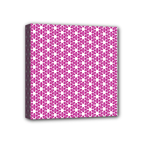 Cute Pretty Elegant Pattern Mini Canvas 4  x 4  by creativemom