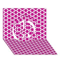 Cute Pretty Elegant Pattern Peace Sign 3d Greeting Card (7x5)
