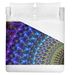 Blue Sunrise Fractal Duvet Cover Single Side (full/queen Size) by KirstenStar